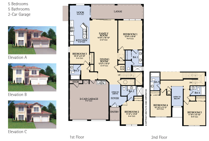 Single family house floor plans escortsea for Familyhomeplans 75137
